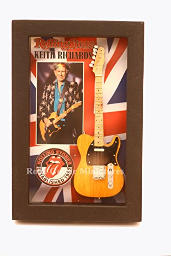 Unbekannt RGM8845 Keith Richards Miniature Guitar Collection in Shadowbox Frame