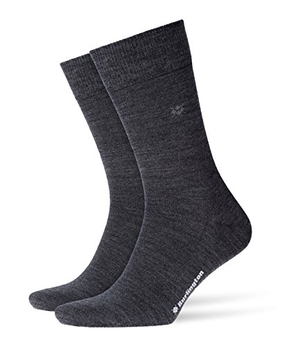 Burlington Herren Socken Leeds M SO, Grau (Asphalt Melange 3180), 40-46 (UK 6.5-11 Ι US 7.5-12)