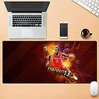 NBA ゲーミングマウスパッド-テーブルマットラージサイズ-精度と速度の向上-滑らかな表面で安定したグリップを実現するラバーベース-滑り止め-900x400x3mm
