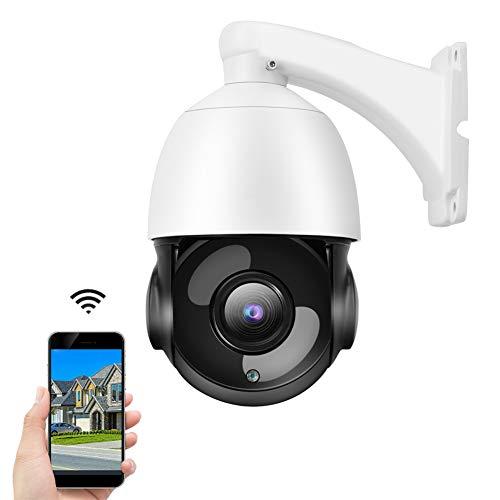 5MP HD PTZ Cámara Domo, Cámara de Vigilancia de Seguridad de Red IP con Zoom Óptico 30X + Visión Nocturna por Infrarrojos + Soporte para ONVIF(EU)