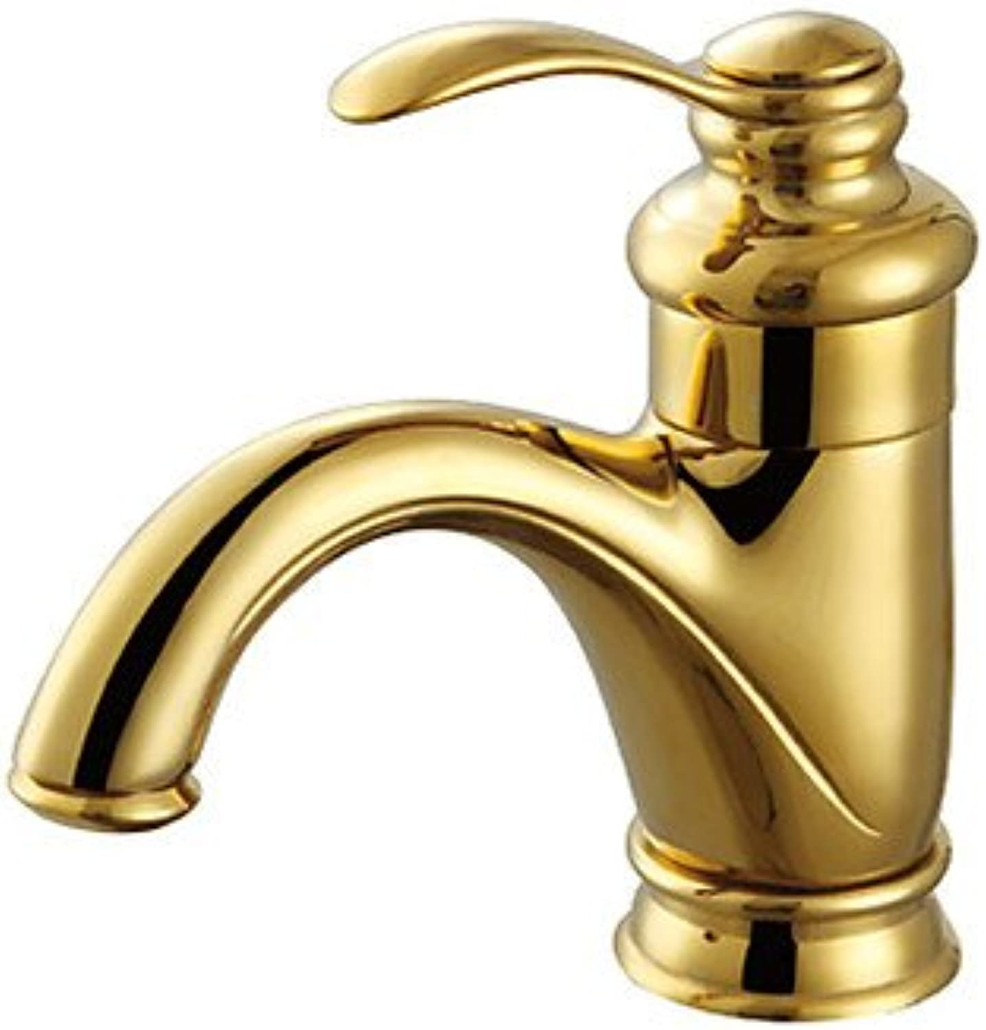 HMer Contemporary Polished Brass One Hole Single Handle Sink tap