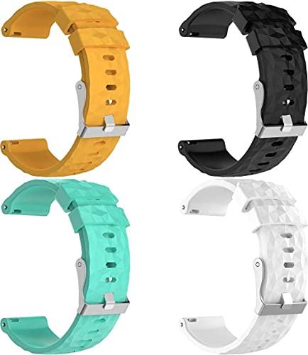 Gransho compatível com Suunto 9/7 / D5i / TRAVERSE/Spartan Sport Wrist HR Baro Pulseira de Relógio, Pulseiras de Reposição de Pulseira de Silicone Macio Premium (4-Pack F)