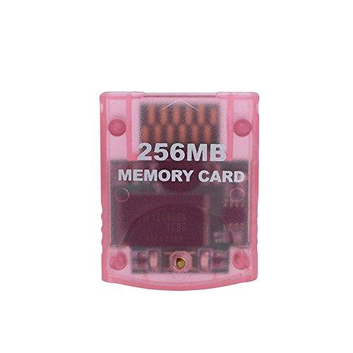 Childhood Clear Pink 256M tarjeta de memoria para Nintendo Wii NGC Gamecube consola