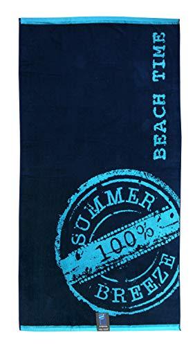 jilda-tex Strandtuch 90x180 cm Badetuch Strandlaken Handtuch 100% Baumwolle Velours Frottier Pflegeleicht (Beach Time)