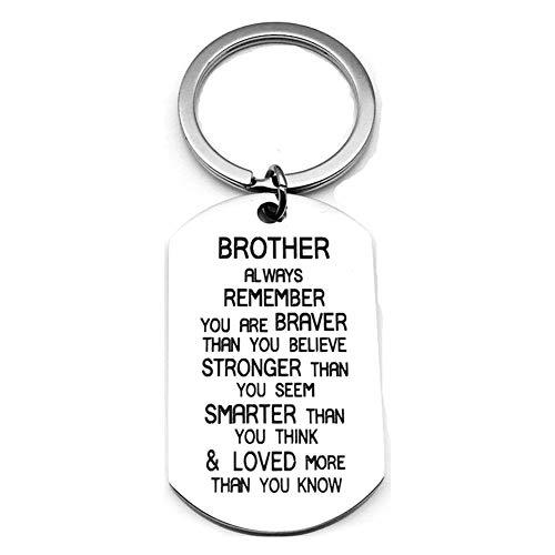 """Inspirierende Schlüsselanhänger mit Aufschrift """"You are Braver Than You Believe"""", Geschenkidee für Bruder"""