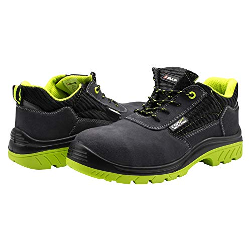Bellota 7231044S1P Zapato de seguridad, Dimensiones (Largo, Ancho y Alto): 320 x 112 x 124 mm, Negro, Verde, 44
