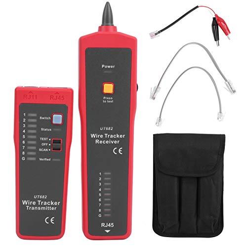 Herramienta de prueba de red Instrumento de medición de red Buscador de línea Herramienta de rastreo de línea Probador de cable Detector de cable Distancia de prueba de 1000M para
