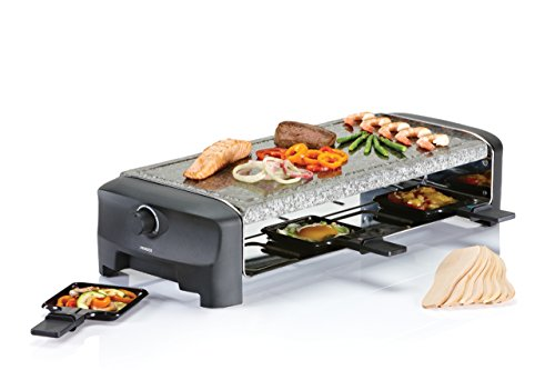 Princess 162830 Stone & Raclette Party – Parrilla para 8 personas