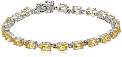 Citrine Oval Cut Tennis Bracelet in Sterling Silver