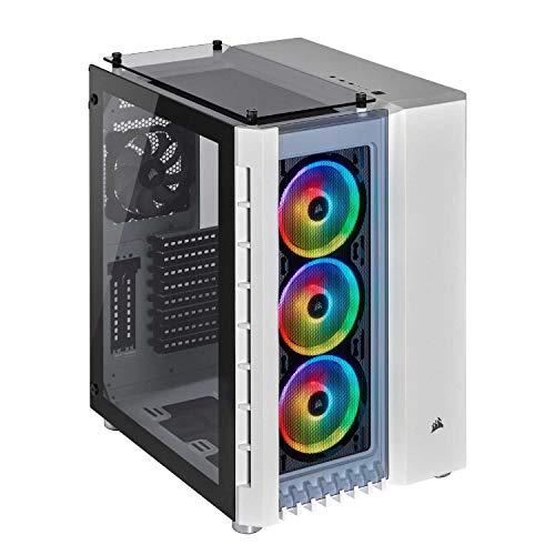 Corsair Crystal Series 680X RGB - Caja de PC, Vidrio Templado ATX Smart Gaming Case, con alto flujo de aire, iluminación RGB LED, Blanco