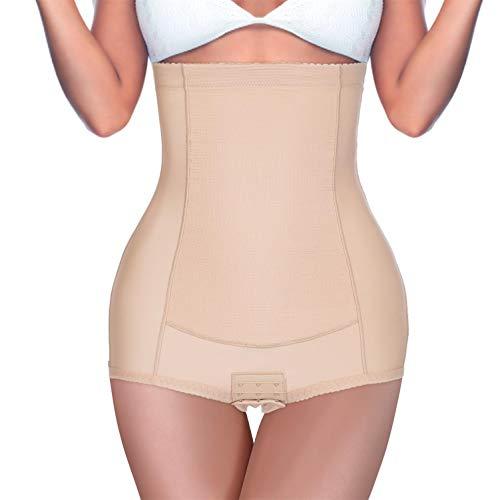 BRABIC Women High Waist Control Panties Postpartum Belly Girdle Slimming Underwear Butt Lifter Shapewear (Beige, 2XL (waist 34.6'-37.7'))