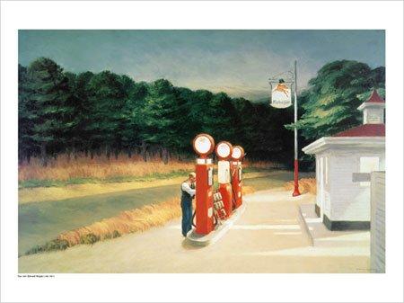 Hopper, Edward - Gas, 1940 - Kunstdruck Artprint Gemälde Tankstelle - Grösse 80x60 cm