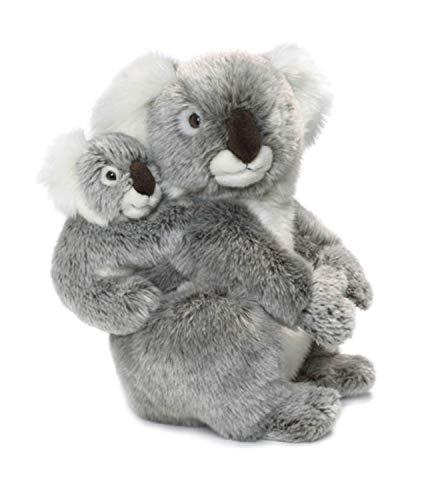 WWF WWF16898 Plüsch Koala Mutter mit Baby, realistisch gestaltetes Plüschtier, ca. 28 cm groß und wunderbar weich