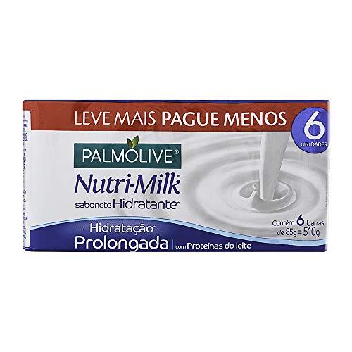 Sabonete em Barra Palmolive Nutri-Milk Hidratação Prolongada 85g Promo Leve 6 Pague 5