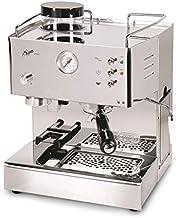 LaGondola Bundle QuickMill 3035 Espressomachine, verchroomd, met zeefhouder, zonder bodem en set met 6 grappige glazen kopjes