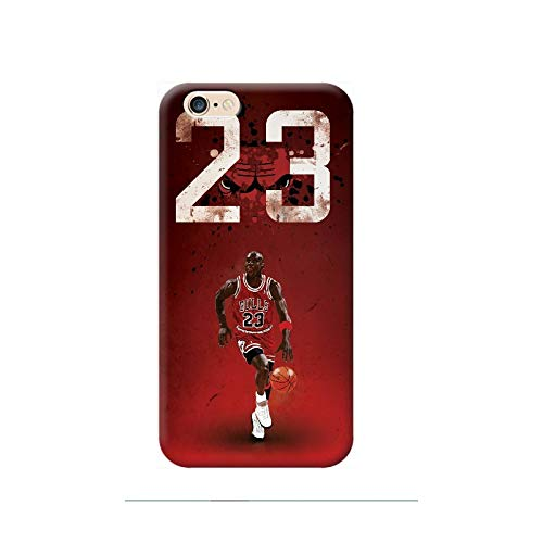 TheBigStock Cover Custodia per Tutti Modelli Apple iPhone x 8 7 6 6s 5 5s Plus 4 4s 5c TPU - I01 Jordan 23 Chicago Bulls, iPhone 6