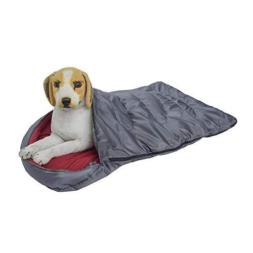Grote slaapzak voor huisdieren, waterdicht, warm hondenkussen met reisbed, draagbaar