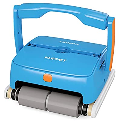 Kenwell Cordless Automatic Pool Cleaner - Robotic Pool Cleaner with 7800mAh Rechargeable Battery, 120 Mins Long Running Time, In Ground/Above Ground Pool Cleaner with Wall Climbing Function