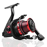 Fishing Reels, Ultralight Carbon Fiber Deep Sea Spinning Reel, 5.2:1High Speed Gear Ratio Saltwater Spinning Reel, 12+1 Shielded BB Open Face Fly Big Ice Fishing Spinning Reels Freshwater