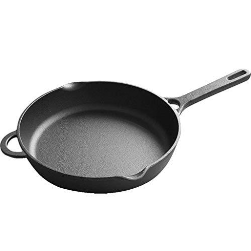 Olla para el hogar, Utensilios de cocina Sartén de la sartén Saltón pesado Sartén de la sartén de la sartén, olla de inducción Panar grande de hierro fundido de hierro fundido Durable Cocinar Pan Long