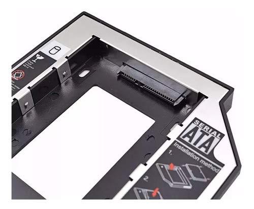 ELE-GATE Caddy Adaptador DVD HDD 9.5 mm 2 Discos Duros En Tu Laptop