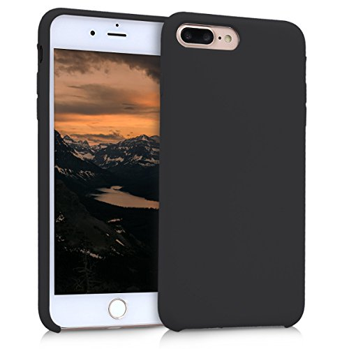 kwmobile Cover Compatibile con Apple iPhone 7 Plus / 8 Plus - Custodia in Silicone TPU - Back Case Protezione Cellulare Nero Matt
