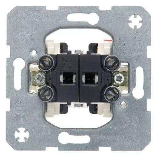 Hager 3035 doppelt schließend Wippschalter 10 A/250 V, Metallic