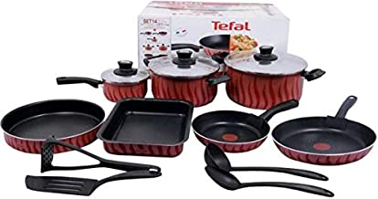 Tefal C5489382 tempo Flame Cookware Set - 14 Pieces