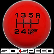 Red/Black Fing Fast Shift Knob For 6 Speed Short Throw Shifter 10X1.5 for Acura RSX