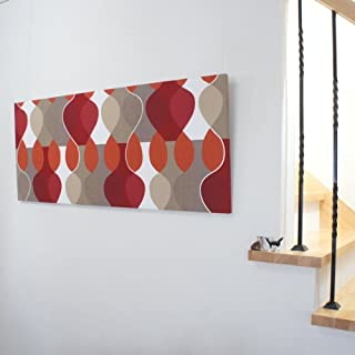 ファブリックパネル ボラスコットン/boras cotton MALAGA(マラガ)/RED 1200×500mm