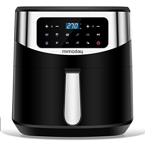 MIMODAY 1700-Watt Electric Hot Air Fryers Oven Cooker (8-Quart) with 9 Presets, Nonstick, LED Digital Touchscreen, Use Little to No Oil for Roasting/Baking/Grilling, ETL Listed, Recipes Included