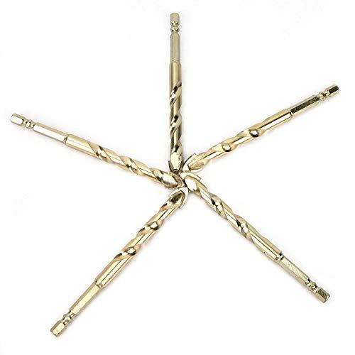 Brocas hexagonales triangulares con vástago hexagonal, 10 unidades, 5 cajas de carburo de taladro torcido hecho para baldosas de cerámica de vidrio