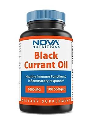 Nova Nutritions Black Currant Oil 1000 mg 100 Softgels by Nova Nutritions