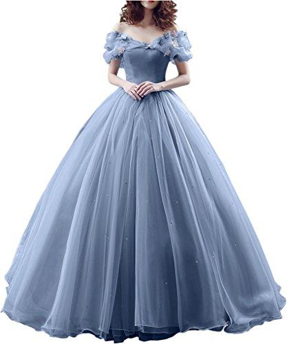 Promgirl House Damen 2017 Maerchenhaft Prinzessin A-Linie Ball Brautkleider Hochzeits Abendkleider Lang-36 Lavendel