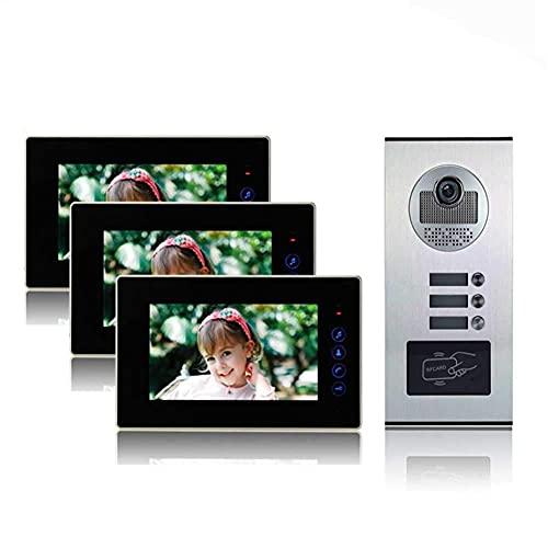 Sistema Di Videocitofono Cablato, Sistema Di Citofono Con Campanello Video Da 9 Pollici, Kit Di Videocitofono Cablato Per Videocamera Hd Supporto Di Sblocco, Monitoraggio, Citofono Bidirezionale Per