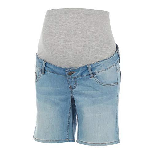 MAMALICIOUS Damen MLFIFTY Slim Light Blue Denim A. Jeans-Shorts, 28