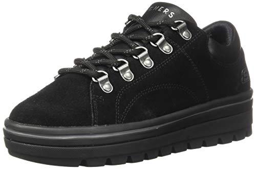 Skechers Street Cleats 2-Fashion Trail, Zapatillas Mujer, Negro (BBK Black Suede/Duraleather Trim #S), 37 EU