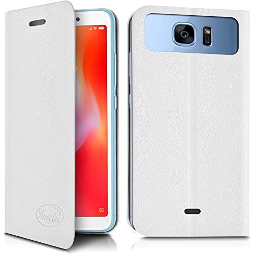 Karylax - Funda con tapa para smartphone Elephone A6 Mini, color blanco