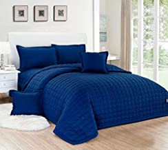 Compressed two-sided Comforter 4 Pieces Set, Single Size,Blue