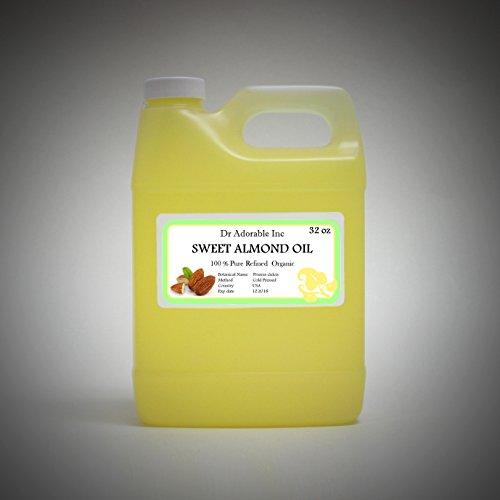 Sweet Almond Oil 100% Organic Skin Care 32 Oz/1 Quart