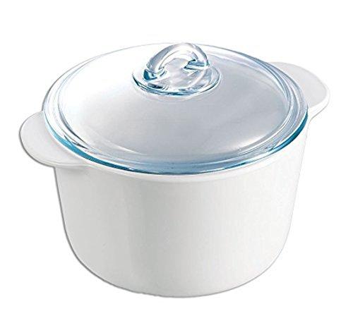Pyrex 7715320 Flame Kasserolle, rund, 5 L (5 Liter rund)