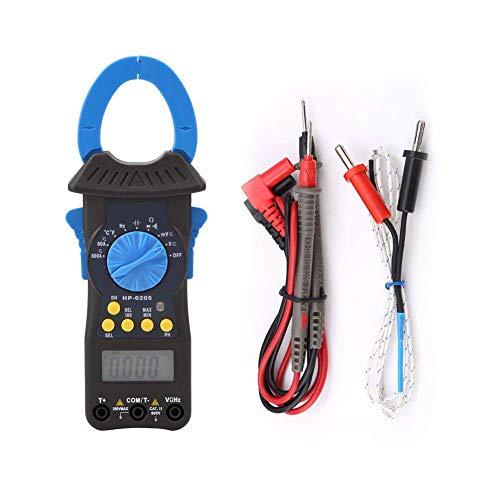 Yhtech Pinzas amperimétricas multímetro, -6205 DC Voltaje Medición de corriente alterna pinza amperimétrica digital inteligente