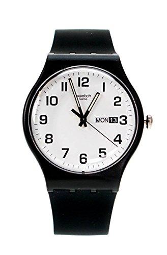 reloj negro de silicona y caja de plástico. SUOB705