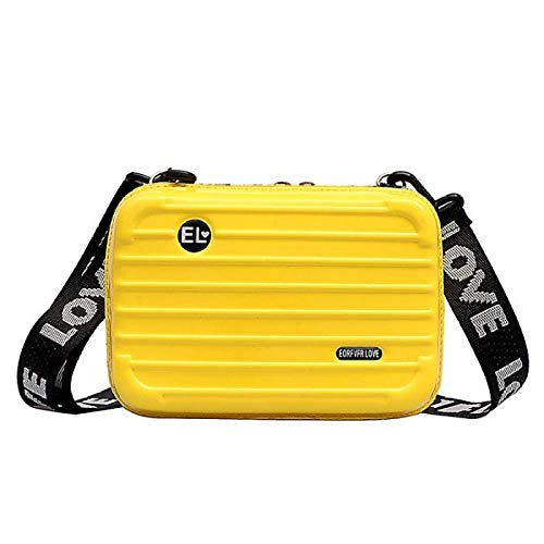LIRUI 2019 Hot Persoonlijkheid Mode Vrouwen Mini Koffer Vorm Schoudertas Schoudertas met brede brief riem Hoge kwaliteit geel