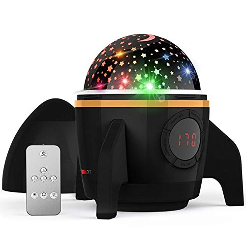 Star Night Light Projector,Amouhom Sky Star Projector,Night Lighting lamp with Remote Control&Timer Design&Rotating,Birthday Christmas Gifts for Baby and Kids,Bedroom,Living Room,(Rocket-Black)