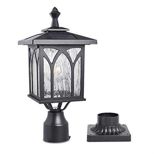 Kemeco ST4328Q Solar Post Light Outdoor Cast Aluminum LED Lamp Fixture with 3-Inch Fitter Base for Yard Garden Post Pole Pillar Mount Landscape Driveway…