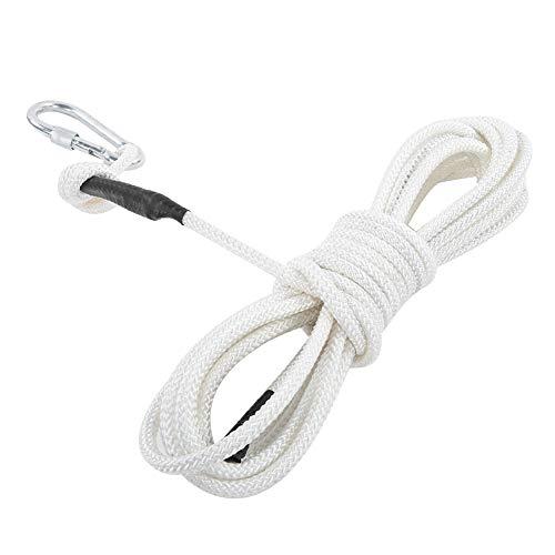 Überleben Sicherheit Seil, mit Polypropylen Polypropylen Gebaut-in 6.-Strand Stahl Kabel 8mm/0.3in Feuer Fliehen Leiter zum Bergsteigen Felsen Klettern Feuer Fliehen