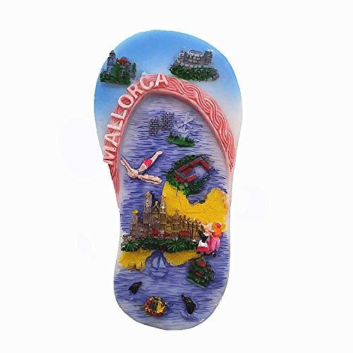 MUYU Magnet 3D Mallorca Spanien Kühlschrankmagnet, Souvenir, Geschenk-Kollektion, Home & Kitchen Dekoration, magnetischer Aufkleber Mallorca Spanien Kühlschrankmagnet