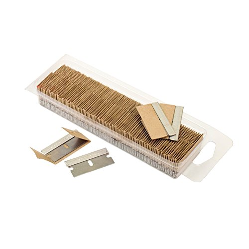 OEMTOOLS 25181 Razor Blades, 100 Pack, Steel Safety Box Cutter Replacement Blades, Removes Paint and Decals, Cuts Boxes and Cords, Fits Most Utility Knives