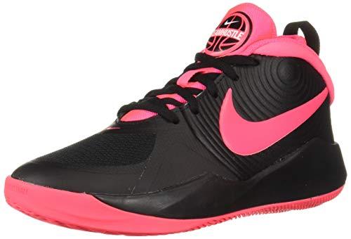 Nike Unisex-Kid's Team Hustle D 9 (GS) Sneaker, Black/Racer...